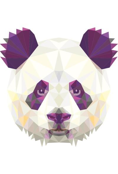 Çınar Extreme Polygonal Üçgen Tasarımlı Panda Sticker