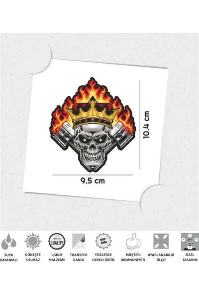 Çınar Extreme Skull Power Sticker