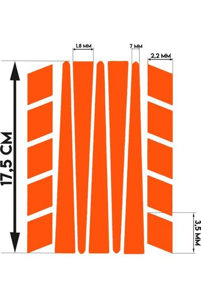 Çınar Extreme Şerit Şeklinde Floresan Turuncu Sticker