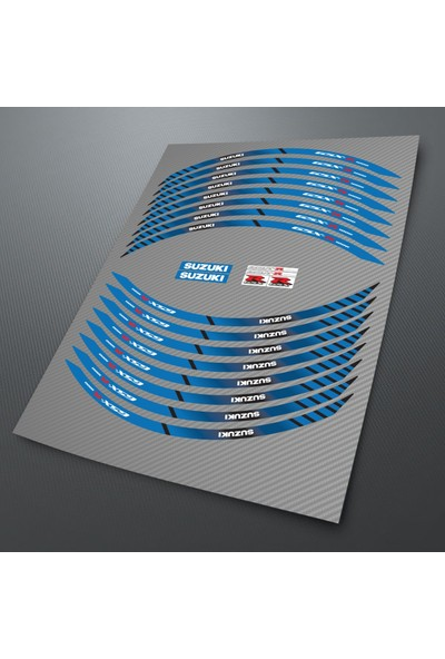 Çınar Extreme Suzuki GSX-R 4 Parçalı Takım GSXR Jant Şeridi Sticker