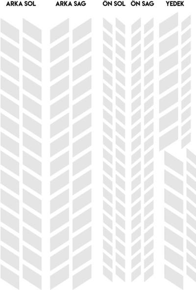Çınar Extreme Tam Tur Reflektif Beyaz [Gri] Supersport İç Jant Şeridi Sticker