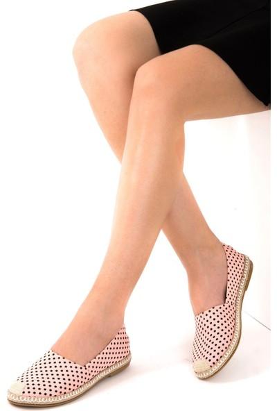 Fox Shoes PudraSiyah Kadın Ayakkabı D280250005