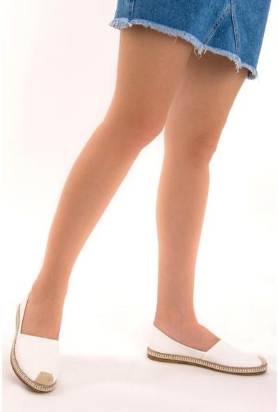 Fox Shoes Beyaz Kadın Ayakkabı D280250009