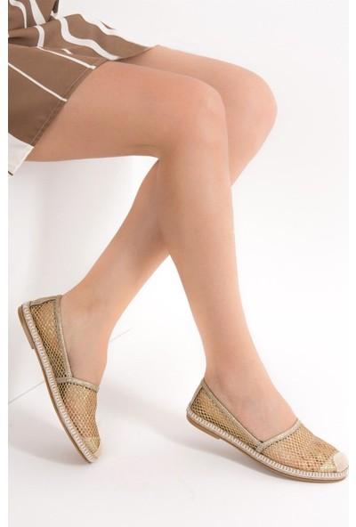 Fox Shoes Altın Kadın Ayakkabı D280250015