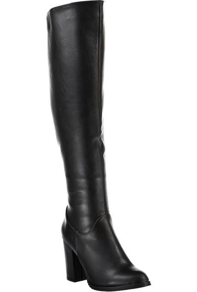 Fox Shoes Siyah Kadın Çizme A654018009