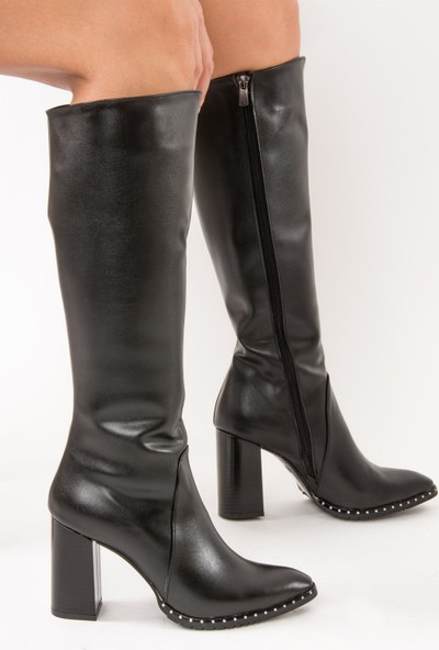 Fox Shoes Siyah Kadın Çizme C654088509