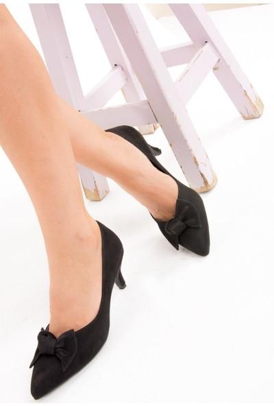 Fox Shoes Siyah Kadın Topuklu E340000202
