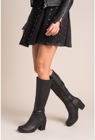Fox Shoes Siyah Kadın Çizme C674250309