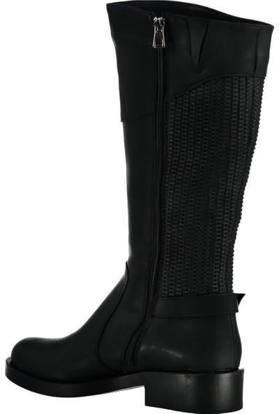 Fox Shoes Siyah Kadın Çizme C674270109