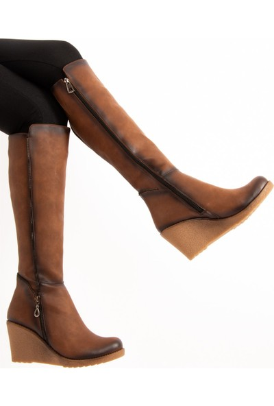 Fox Shoes Taba Kadın Çizme E674220209