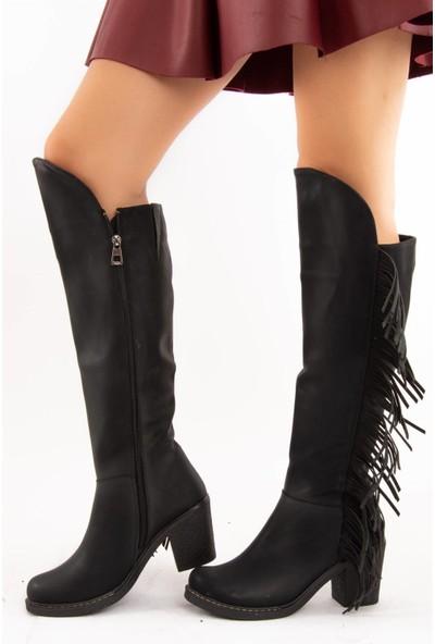 Fox Shoes Siyah Kadın Çizme E674250809