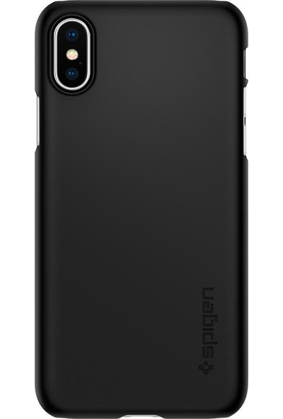 Spigen Apple iPhone XS / iPhone X Kılıf Thin Fit Black - 063CS24904