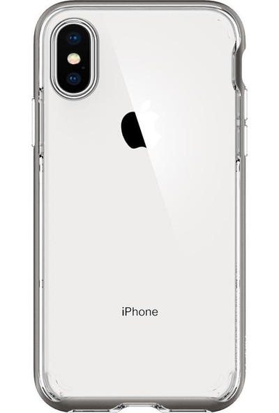 Spigen Apple iPhone XS / iPhone X Kılıf Neo Hybrid Crystal Gunmetal - 063CS24924