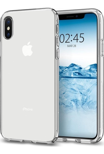 Spigen Apple iPhone XS / iPhone X Kılıf Liquid Crystal 4 Tarafı Tam Koruma Clear - 063CS25110