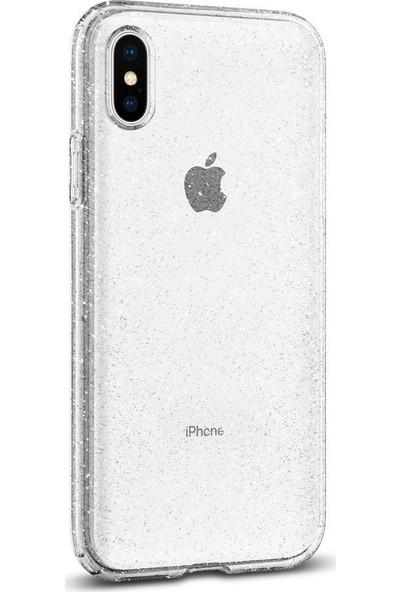 Spigen Apple iPhone XS / iPhone X Kılıf Liquid Crystal Glitter Crystal Quartz - 063CS25111