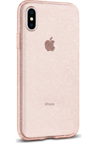 Spigen Apple iPhone XS / iPhone X Kılıf Liquid Crystal Glitter Rose Quartz - 063CS25112