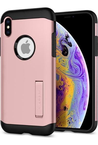 Spigen Apple iPhone XS / iPhone X Kılıf Slim Armor Rose Gold - 063CS25137