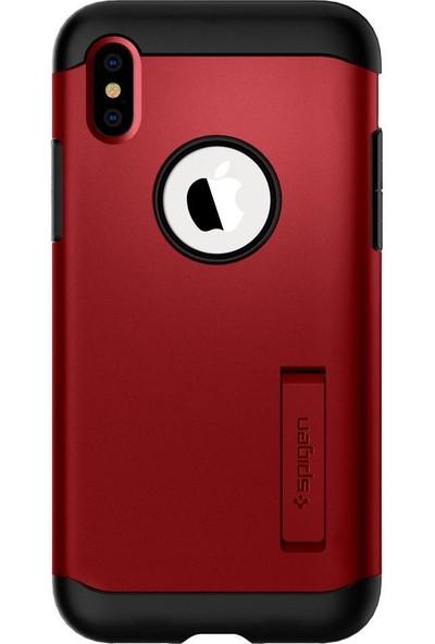Spigen Apple iPhone XS / iPhone X Kılıf Slim Armor Merlot Red - 063CS25138