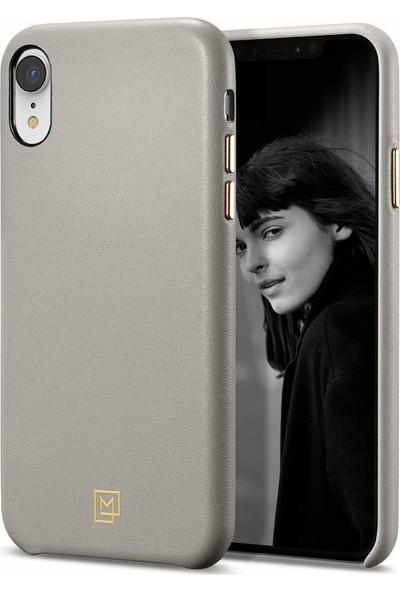 Spigen Apple iPhone XR Kılıf La Manon Câlin Oatmeal Beige (Deri Kılıf) - 064CS25090