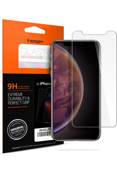 Spigen Apple iPhone 11 / iPhone XR Cam Ekran Koruyucu GLAS.tR SLIM - 064GL24527