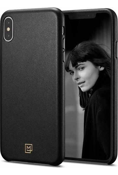 Spigen Apple iPhone XS Max Kılıf La Manon Câlin Chic Black (Deri Kılıf) - 065CS25092