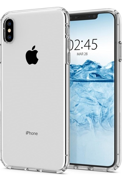 Spigen Apple iPhone XS Max Kılıf Liquid Crystal 4 Tarafı Tam Koruma Clear - 065CS25122