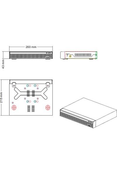 Opax 12005 4 Kanal Ahd 2 Mp 1080P 4 Lü 5 İn 1 Xvr Metal Bullet Kamera Seti