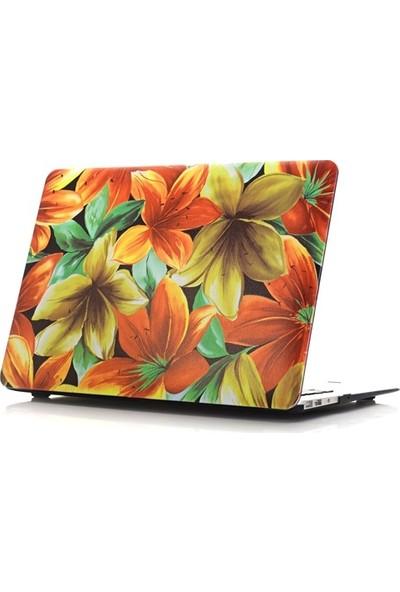 "Unico Apple Macbook Air 11"" ve 11.6"" A1370, A1465 Sert Koruyucu Kapak - Zambak Demeti"