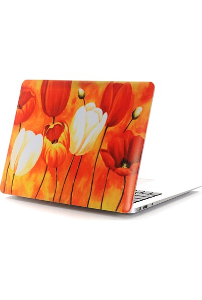 "Unico Apple Macbook Air 11"" ve 11.6"" A1370, A1465 Sert Koruyucu Kapak - Lale"