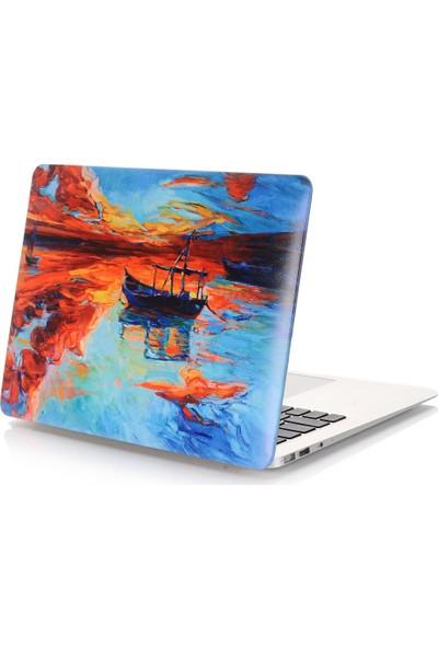 """Unico Apple Macbook Pro Retina 13"""" ve 13.3"""" A1502, A1425 Sert Koruyucu Kapak - Gün Batımı"""