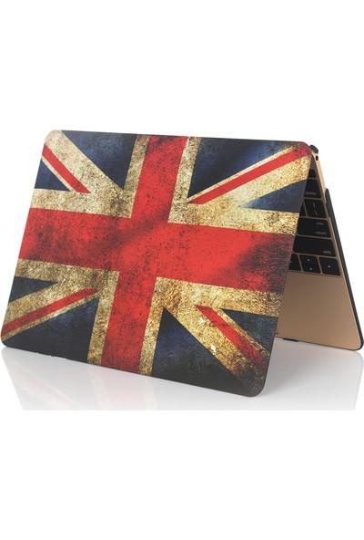 """Unico Apple Macbook Pro Retina 13"""" ve 13.3"""" A1502, A1425 Sert Koruyucu Kapak - İngiliz Bayrağı"""