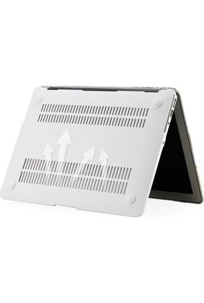 "Unico Apple Macbook Pro Retina 13"" ve 13.3"" A1502, A1425 Sert Koruyucu Kapak - White Marble"