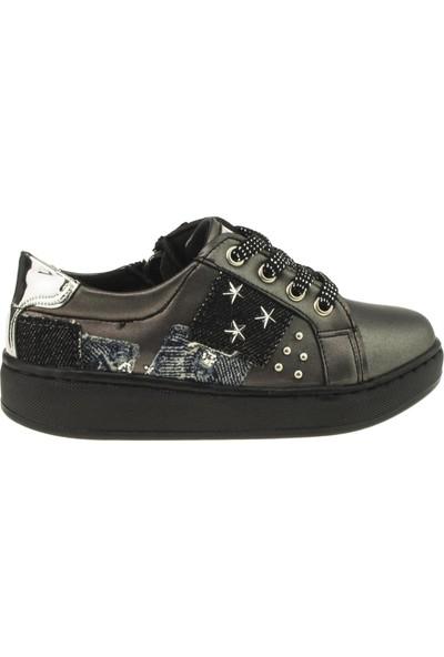 Vicco 969.18K.219 Bağlı Yıldızlı Patik Füme Çocuk Ayakkabı