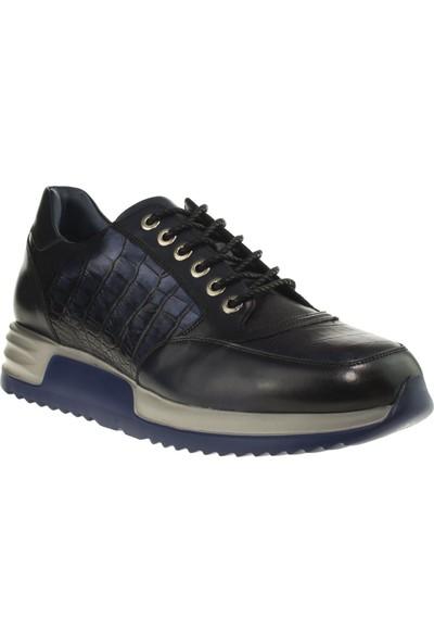 Tigra 17K951 Fashion Paltform Deri Lacivert Erkek Ayakkabı