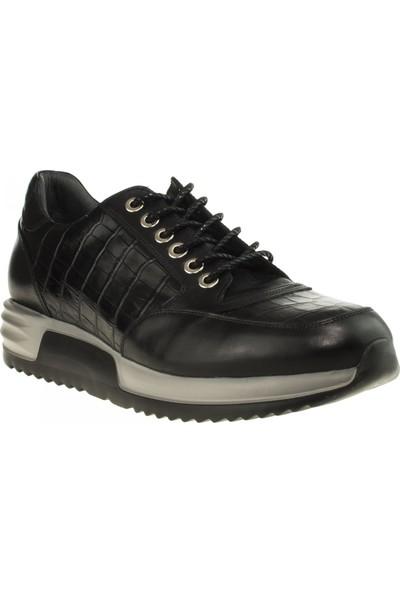 Tigra 17K951 Fashion Paltform Deri Siyah Erkek Ayakkabı