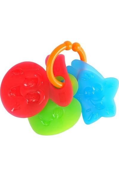 Playgo 3 Parça Renkli Diş Kayıcı Bebek Dişliği