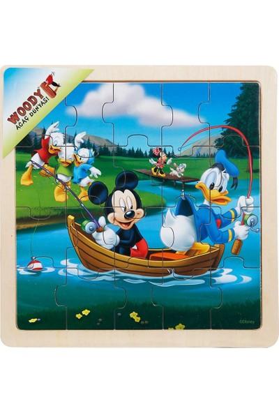 Woody Mickey Mouse Ve Donald Duck 20 Parça Ahşap Oyuncak Yapboz Göl