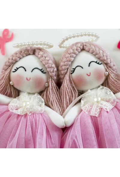 Renkli Hayallerim Begonya İkiz Kardeş Kız Bebek Takı Ve Süs Yastığı