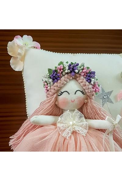 Renkli Hayallerim Gardenya Kız Bebek Takı Ve Süs Yastığı