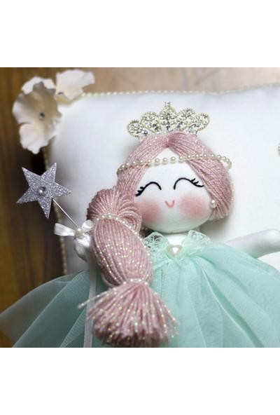 Renkli Hayallerim Papatya Melek Kız İsimli Bebek Takı Ve Süs Yastığı