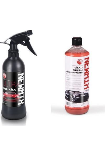 Newmix Hızlı Cila 500 Ml + Cilalı Fırçalı Oto Şampuanı 1000 Ml
