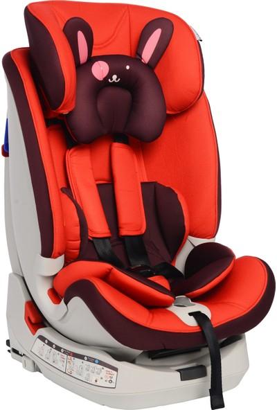 Norfolk Pro Baby Safe Isofixli 9 - 36 kg Çocuk Oto Koltuğu - Red Hot İsofix / Sips / Latch / Ece R44/4