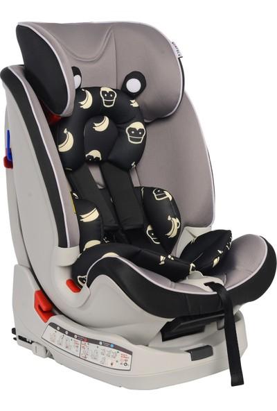Norfolk Pro Baby Safe Isofixli 9 - 36 kg Çocuk Oto Koltuğu - Black Grey İsofix / Sips / Latch / Ece R44/4