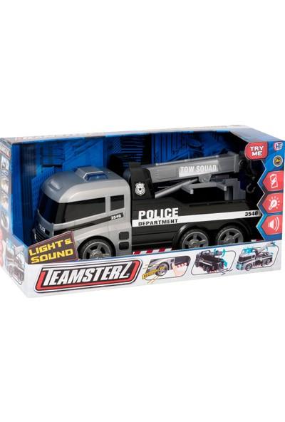 Teamsterz Siren Sesli Ve Işıklı Polis Çekici Kurtarma Kamyonu