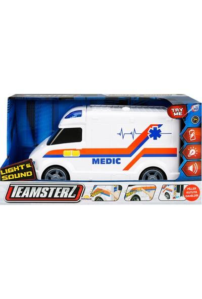 Teamsterz Siren Sesli Ve Işıklı Oyuncak Büyük Ambulans Arabası
