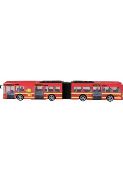 Teamsterz Sesli Ve Işıklı Körüklü Oyuncak Yolcu Otobüsü - Kırmızı