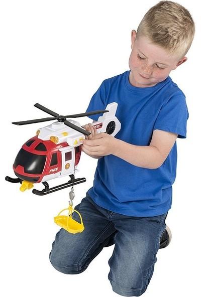 Teamsterz Siren Sesli Işıklı İtfaiye Yangın Söndürme ve Kurtarma Helikopteri