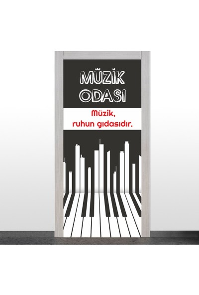 Okularenkkat Müzik Odası Kapı Giydirme-1a