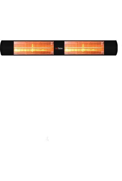 Hottable 3000W Dış Mekan Duvar Tipi Isıtıcı Siyah