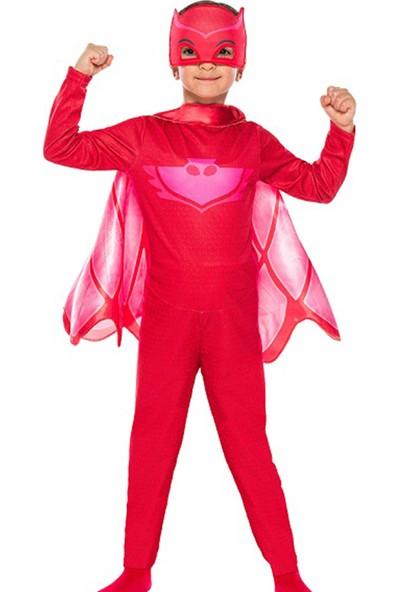 Kullan At Market Pj Mask-Pijamaskeliler Baykuş Kız Kostüm 4-6 Yaş